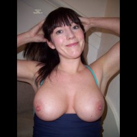 Large Breasts With A Smile - Big Tits, Dark Hair, Firm Tits, Large Breasts, Long Hair , Big Melon Tits, Broad Smile, Firm And Ripe, Large Areola, Shining Hazel Eyes, Round Tits, Showing Her Armpits, Arms Up Tits Out