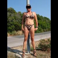 Monica Leather Bikini
