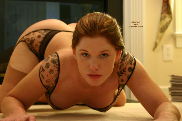 Crouching On All Fours - Garter Belt, Hanging Tits, Hat, On All Fours, Red Hair, Stockings , Crouching On All Fours, Lacy Lingerie, Cat Pose, Hanging Breasts, Wfi From The Front, Garter Belt, Stockings, Red Hair, Black Body Suit, Black Lace Non Nude, Cute Red Hat