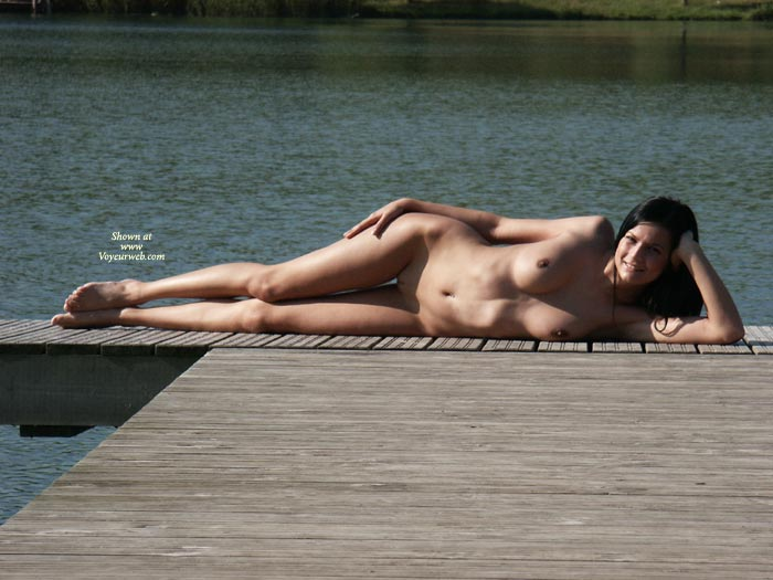 Nude Sexy Girl Lying On Deck - Black Hair, Long Hair, Naked Girl, Nude Amateur, Sexy Body, Sexy Woman , Sexy Curves, The End Of The Dock, Nude On Dock, Lying On Her Side, Tan Naked, Resting Her Head In One Hand, Stretched Out Laying Sideways