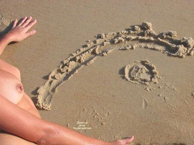 Tits On Beach - Voyeur , Tits On Beach, The Eye, Voyeur Web, Vw Logo