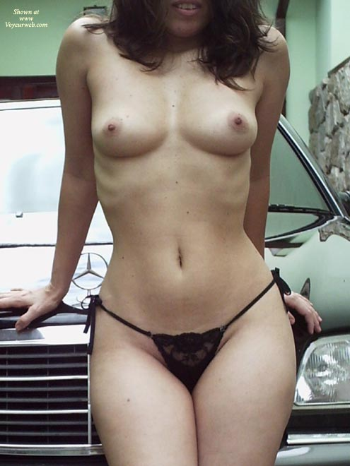 Car Bonnet - Small Tits, Thong, Topless Outdoors, Sexy Boobs , Car Bonnet, Black Thong, Two Triangles, Small Tits, Benz And Boobies, Topless On Car, Topless Outdoors