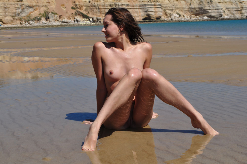Nude On The Beach With Knees Up - Small Tits, Spread Legs, Nude Amateur , Beach Wateredge Pose, Sand Twat Castle, Pussy On The Beach, Low Tide, Nude Crab Walk, Labia Spot, Wet Ass, Beach Spread Legs, Nude Me