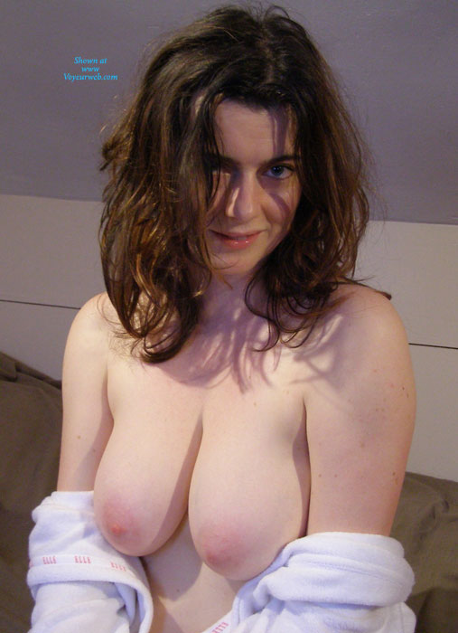 Big Breasted Brunette - Brunette Hair, Topless, Nude Amateur, Nude Wife , Ruffled Hair, Pink Nipples, Large Boobs, Topless Brunette Beauty, Soft Skinned Brunette, Great Hangers, Topless Temptress, Pink Areolas