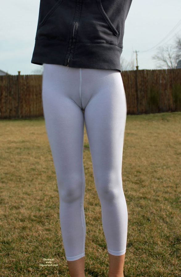 Wife Lycra Cameltoe - Camel Toe , Toe Covered By Lycra, Amateur's Cameltoe, Camel Toe Tights, White Pants, Ghostly Twolly, Seamed Crotch, White Camel Toe, Camel Toe In White Tights., Black Jacket