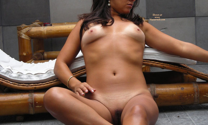 Sitting Nude Laying Against Bamboo Lounge - Brunette Hair, Shaved Pussy, Small Breasts, Tan Lines, Naked Girl, Nude Amateur , Tan Lines And Shaved Muff, Small Firm Breasts, Frontal View, Sitting Nude, Sitting On The Floor Against A Bamboo Recliner, Tan Brunette, Shaved Bare, Breast Tanlines