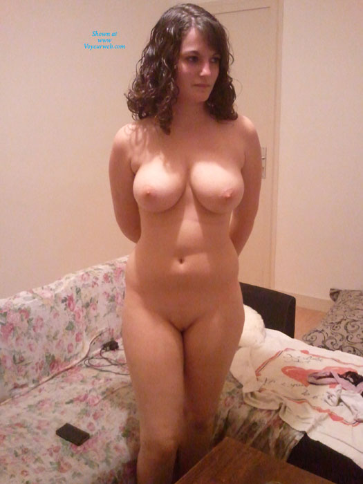 Nude Busty Brunette With Arms Behind Her - Brunette Hair, Bald Pussy, Naked Girl, Nude Amateur , Fun For Naked Wrestling, Full Frontal, Lighting From Above, Beautiful Curves, Soft Smooth Twolly, Nude And Waiting, Big Boobs, Voluptuous Body, Huge Bombs, Curly Hair