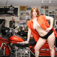 A Saturday Photo Shoot In The Garage , I Was Doing A Photo Shoot For A Biker Magazine Cover And It Just Got Better And Better. Sarah Was A Great Model.
