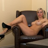 Nude Heels , Nice Old Leather Chair...
