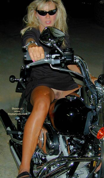 Girl Spreading Legs On Motorcycle - Black Dress, No Panties , Girl Spreading Legs On Motorcycle, Pantyless, Black Dress, Dark Sunglasses, Riding A Bike, Wild Blonde On Bike, Long Tanned Legs Exposing Her Feminity, Pink Finger Nails Exposing Pink Lips