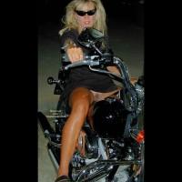 Girl Spreading Legs On Motorcycle - Black Dress, No Panties , Girl Spreading Legs On Motorcycle, Pantyless, Black Dress, Dark Sunglasses, Riding A Bike, Wild Blonde On Bike, Long Tanned Legs Exposing Her Feminity, Pink Finger Nails Exposing Pink Lips