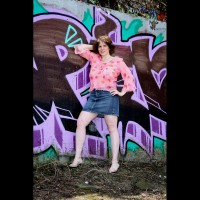 Lisajane Against The Wall , Hello To All. Well I Guess My EIP Was A Success. Thank You To All My Fans And Friends. So As Promised Here Is My Freestyle Contri. This Was Taken The Same Day As My EIP But We Were Hiding In The Trees Where Nobody Could See Us. Except For My One Fan That Was Tagging Along. He Was Very Helpful. Thank You Voy  :-)  I Had A Lot Of Fun Doing These Pics. I Had High Heels On But They Kept Sinking Into The Mud. I  Had To Climb A Hill To Pose For These. A Lot Of Work. But I'll Do Almost Whatever I Have To Do To Get Good Pics For My Fans And Friends.   I Hope I Did A Good Job And I Hope The Pics Make You All Hot And Horny. Enjoy!