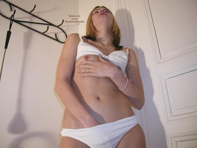 Hand In Panties - Nipples, Small Nipples , Hand In Panties, White Bra And Panties, Small Nipples, Rubbing Nipples, Touching Myself