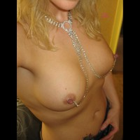 Self Shot Of Chained Nipples - Blonde Hair, Erect Nipples, Hard Nipple, Perky Tits, Nude Amateur , Blond With Perky Tits, Hard As Diamond Cutters, Chained Nipples, Nipple Chain, Nipple Jewelery, Blonde Self Pic Of Her Titties, Hard Erect Nipples