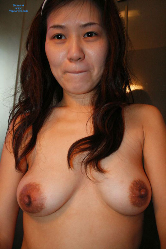 Shy Topless Asian Girl - Large Aerolas, Topless, Naked Girl , Asian Tit Flash, Nude Asian Girl, Topless Ex-wife, Big Nipples, Biting Her Lips
