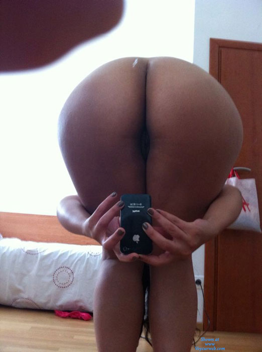 self shot pussy bent over