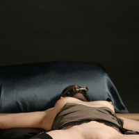 Wife BDSM Games - Erect Nipples, Hard Nipple, Nude Wife , Nylon Over Her Head, Tied Spread Arms, Arms Spread, Tied Wife, Bound To Please, Wife Bondage, Bondage