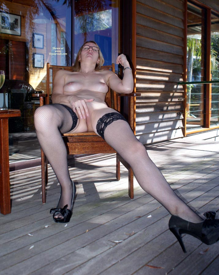 Playing With Her Pussy - Milf, Stockings, Nude Amateur , Strumming Her Twolly, Milf On Chair, Masturbating Outside, Lazy Afternoon Playing Session, Vacation Masturbation, Nude Me, Playing Outside At The Cabin, Milf Outside, Porch Masturbator, Cabin Fever