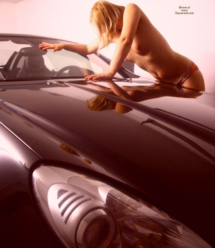 Nude Girl Reflected In Polished Car - Blonde Hair, Small Tits, Topless, Naked Girl , Smoth Lines, Topless Wife, Short Blond Hair, Nude Girl And A Car, Hot Car, Fast Girl