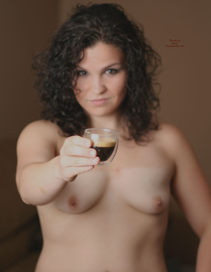 Espresso In The Nude , Just A Shot Of Espresso Before Going To A Sexy Party.
