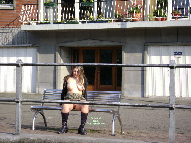 "Patricia Near The Meuse , Now, It's Time To Walk By A Big River Called "" La Meuse"" In Belgium. Walking By The River ? Right, But Completly Nude, It's Better"