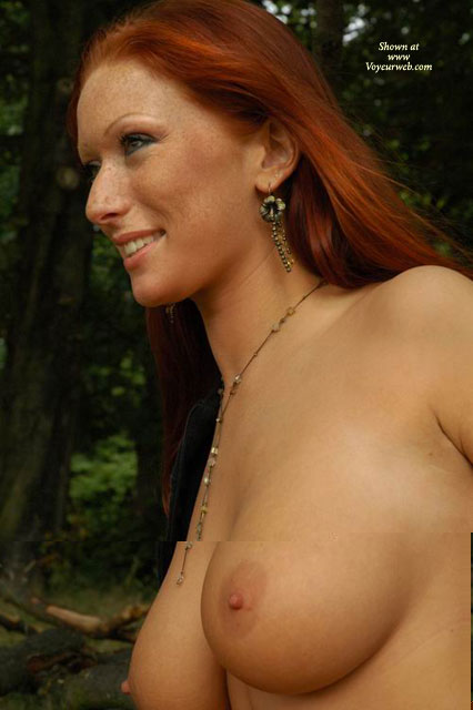 Freckles - Big Tits, Freckles, Red Hair , Freckles, Nude On Nature, Natural Look, Red Hair, Big Tits
