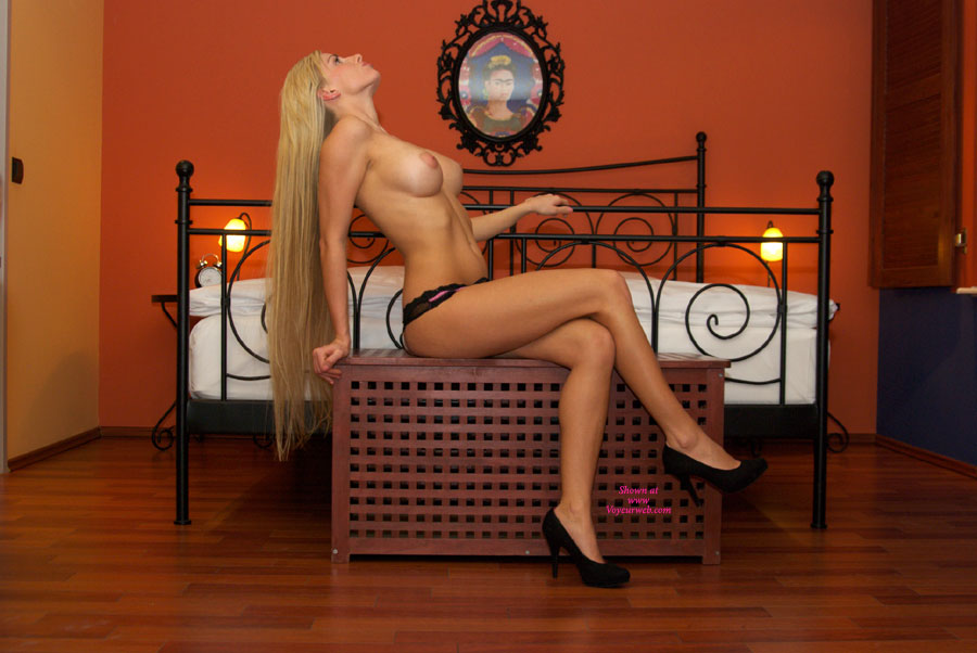 Bedroom Blonde Topless With High Heels - Blonde Hair, Heels, Long Hair, Long Legs, Topless, Naked Girl , Spectacular Torso, Elagant Pose, Lone Blonde Hair, Topless Amateur, Nice Legs, Nude Girl In Heels, Beautiful Breast