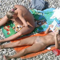 Two Naked Girls On Nude Beach - Shaved Pussy, Small Tits, Tan Lines, Bald Pussy, Beach Voyeur , Small Boobs, Light Tan Lines, Warming Her Taco, Inspecting Her Pussy, Thin Twins