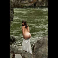 Hot Ass, Cold River - Brunette Hair, Huge Tits, Nude Wife, Sexy Ass, Sexy Wife , Round Ass, Round Curves, Sexy Looking Ass Cheeks, Lady In Troubled Waters, Hot Ass, Cold Water, White Dress, Tan Skin, Ass In The Wild