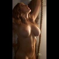 Fabulous Tits - Nude Amateur , Big Breasts, Round And Red, Large Boobs, Facing Camera, Stretching Skyward, Arms Reaching Up, Reaching For The Stars, Classic Nude Torso, Arms Raised, Large Tits, Old Rope, Massive Tits