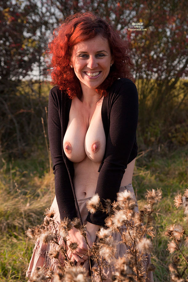A Smile And Boobs - Erect Nipples, Hard Nipple, Huge Tits, Milf, Topless , Redhead Topless Wife, Dimpled Nipples, Redhead With Big Boobs, Topless Wife, Smiling Red Head, Sexy Milf In The Woods, Redhead Milf, Big Red Nipples, Big Smile, Voluptuous Milf, Breast Pressed Together, Extreme Clevage, Super Hard Nipples, Tits Outdoors