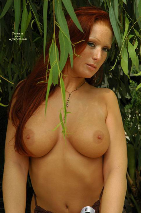Redhead - Big Tits, Red Hair, Redhead, Topless Outdoors , Redhead, Big Boobs, Outdoor Nature, Topless Outdoors, Red Hair, Light Brown Aerolaes