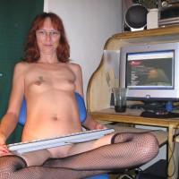 Angelhott At The Computer