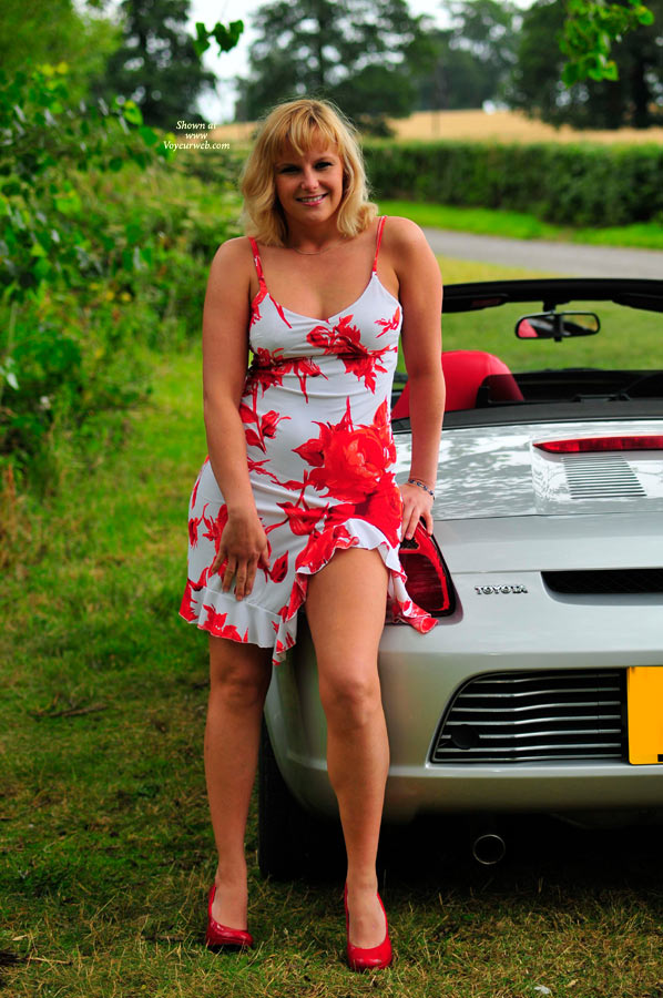 Hollie's New Car , I've Just Bought A Topless Car, Well I Had To Really !  If You See Me Out In London Then Hoot Me And Say Hello.  We Went Into The Country And Took Loads Of Great Pictures, I Hope You Like Them, We Have Lots More If You Want To See Them, Althought They May Well End Up In Redclouds. I 've Started Off Quietly, So I Hope You Enjoy The Tease.