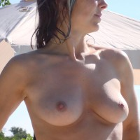 Enjoy These Lovely Tits , Summertime At The Pool
