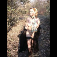 Wife Flashing Pic - Flashing, Nude Outdoors, Looking At The Camera, Naked Girl, Nude Amateur , Smiling At Camera, Black Lace Top Hold Up Stockings, Nude In Nature, Nude Outdoors, Silk Scarf, Black Thight High White Lace Top, Black Wrap Around Coat, Black Hose, Brown Boots