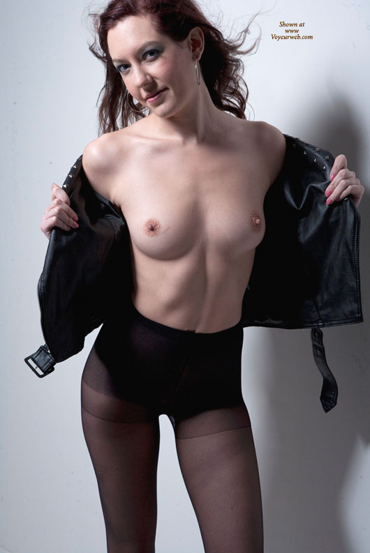 Model Stance - Erect Nipples, Small Tits, Naked Girl , Black Leather Flash, Black Pantyhose, Small Nipples, Leather And Silk, Model Pose, Leather Jacket, Little Nipples, Nylon And Lace, Leather Blouse, Little Nipples And Areola