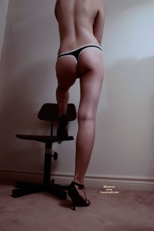 New Panties , She Bought A New Panties From Victoria's Secret, And Try Out. I Just Grab The Camera To Shoot. After All Shots, Her Pussy Is Wet, So I Put Down The Cam And Fuck Her. Please Give Her Some Comments!!
