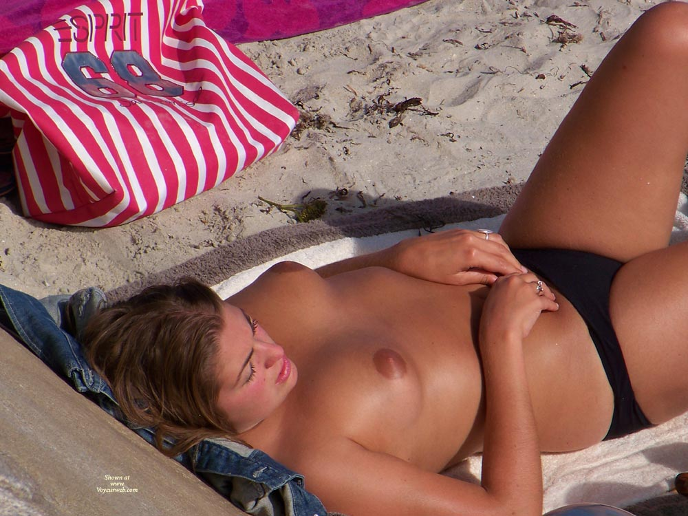 Busty Topless Girl On Beach - Topless, Beach Voyeur, Sexy Face , Topless On A Sandy Beach, Tan Never Looked So Good, Beach Tits Voyeured, Parted Lips, Soft Round Tits