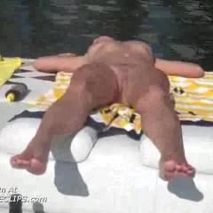Nude Girlfriend Sunbathing 2
