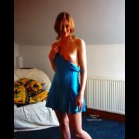Redhead - Redhead , Redhead, Blue Lingerie, Blue Tennis Dress, Peek A Boo