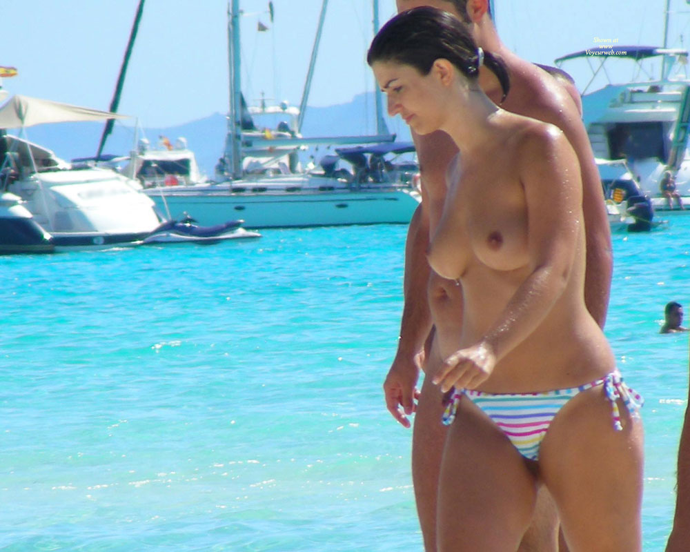 Pretty Girl With Nice Breast At Mallorca Beach , Last Summer At Mallorca Beach ...