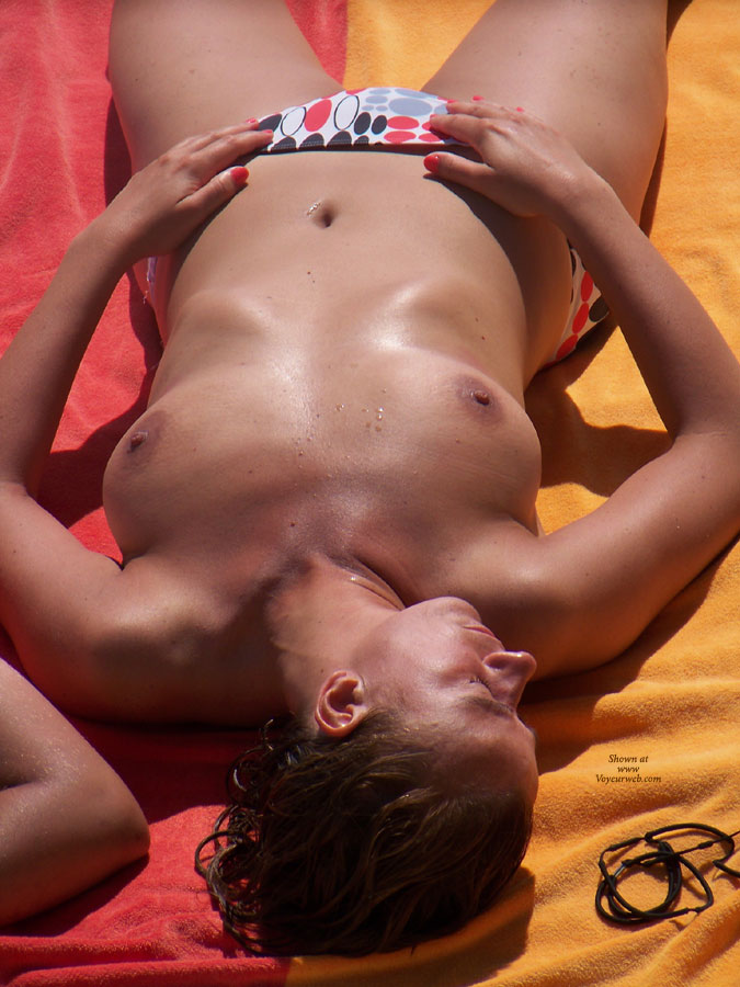Voyeuring Tanning Topless Woman - Topless Beach, Topless, Beach Tits, Beach Voyeur , Tan Breasts, Beach Voyeur Tits, Tanning, Sunny Side Up, Tanning Topless Woman, Topless Beach Voyeur
