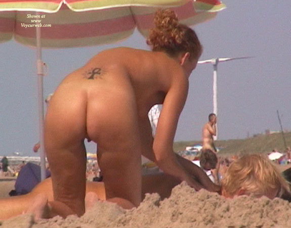 "Massage On The Nude Beach Of Scheveningen , This Girl Give Her Boyfriend A Delisius Massage On The Nude Beach Of Scheveningen, Holland, And Offer Me E Wonderfull ""look True.....:+)"""