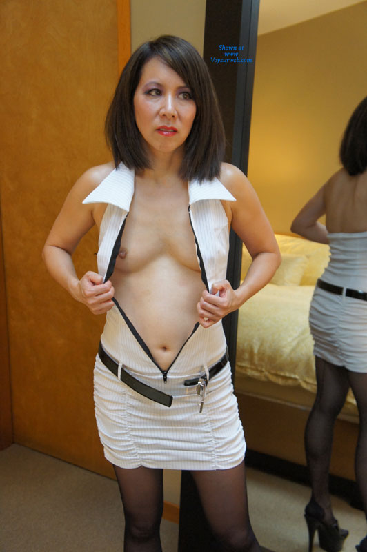 Shaved Asian Stripping , CJ Wanted To Show Off Her New Dress And Eyelashes Complete With Very Slutty Makeup For All Her Fans To Comment On. Please Leave Lots Of Dirty Comments On What You Would Like CJ To Do Next Time So That Igor Will Notice My Horny Wife.