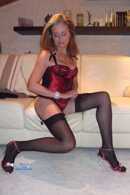 Corset And Heels , A Very Hot Night, Believe Us!
