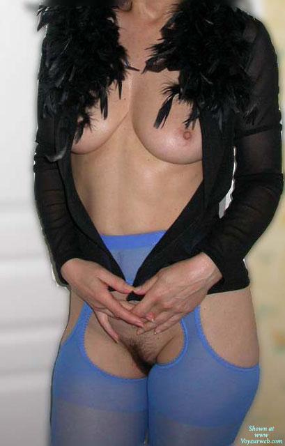 Pic #1Cindy En Collant Bleu