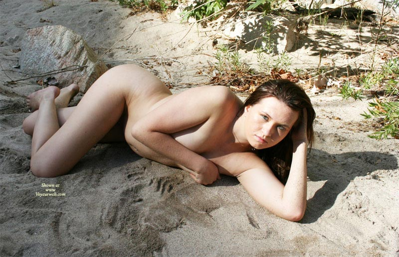 Nude Girl Hiding Her Tits - Naked Girl , Nude Woman On The Beach, Nude Friend, Covering Her Breasts