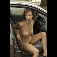 Naked female exhibitionist