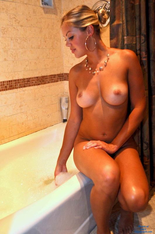 Naked Cute Girl Sitting On Tub - Blonde Hair, Firm Tits, Tan Lines , Super Cute, Nude Friend, Full Round Tits, Sexy Girlfriend, Sexy Tits, Tanlines Tits
